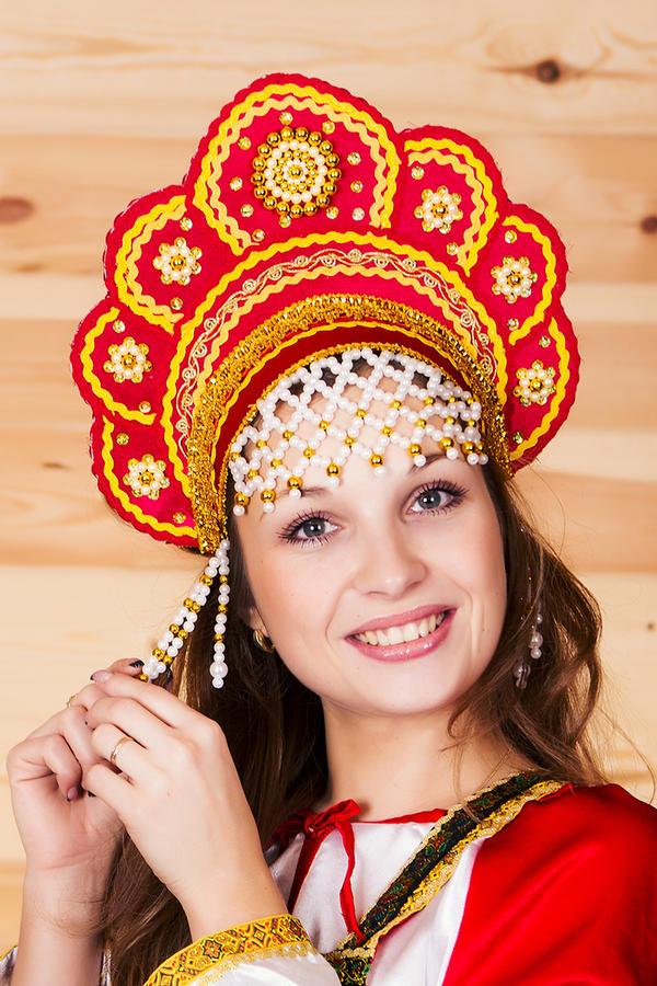 Как сделать кокошник русский народный костюм