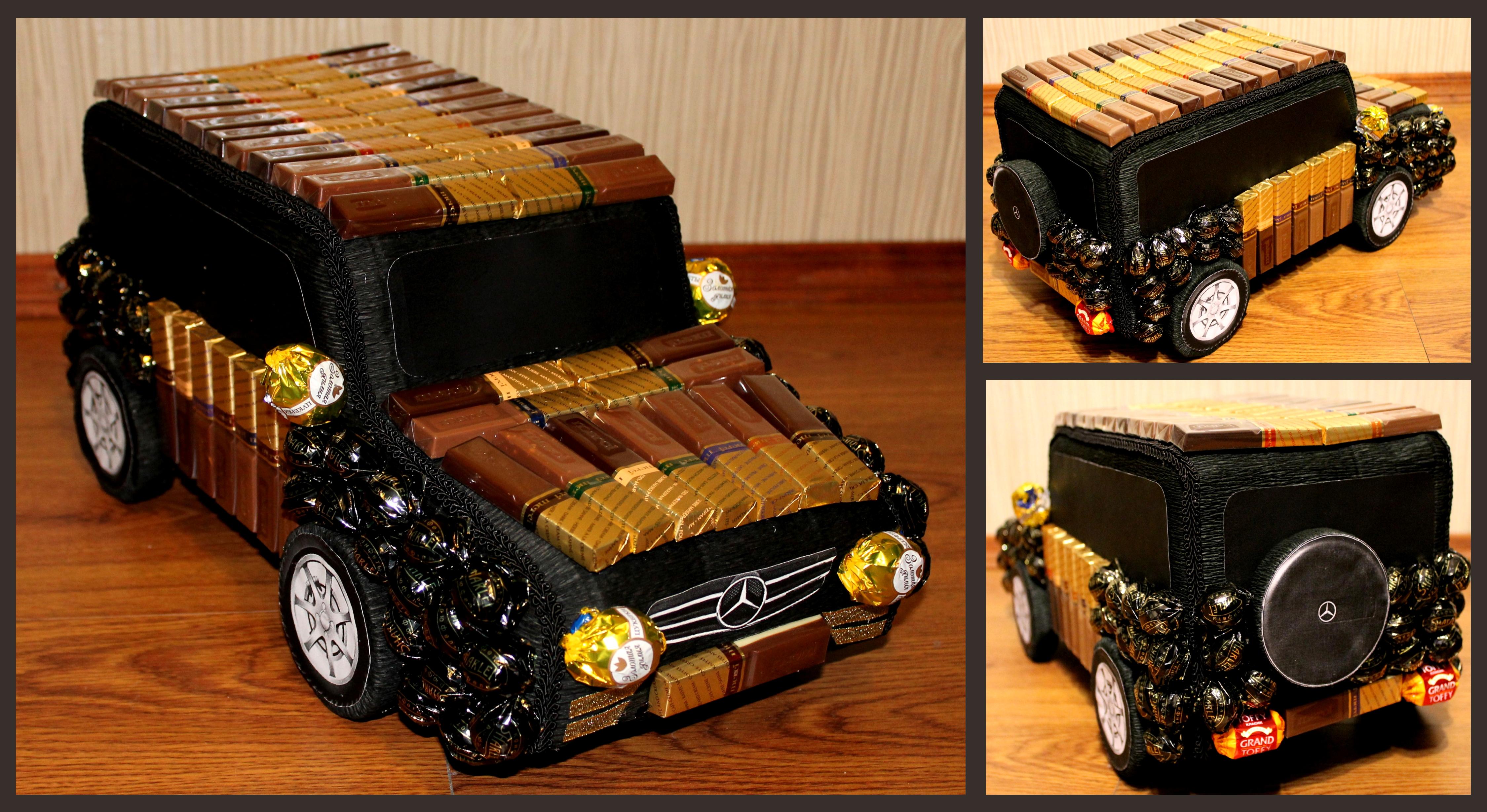Подарки из конфет своими руками. Шоколадная машина. - Pinterest