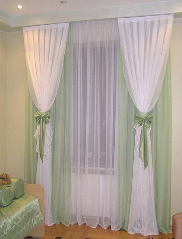 Легкие шторы в спальню своими руками