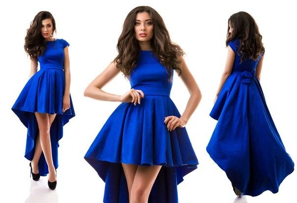Платье спереди коротко сзади длинное