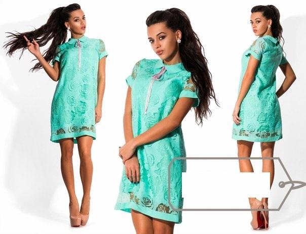 Летнее платье под лен