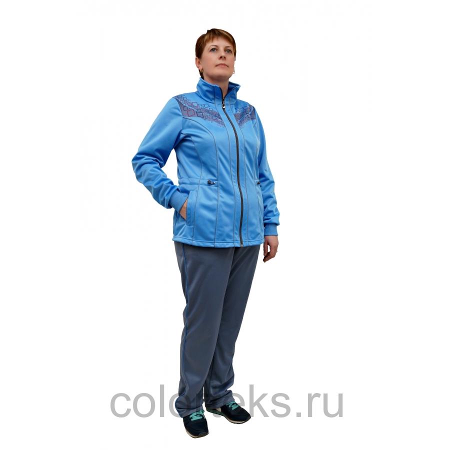 Женский Голубой Спортивный Костюм