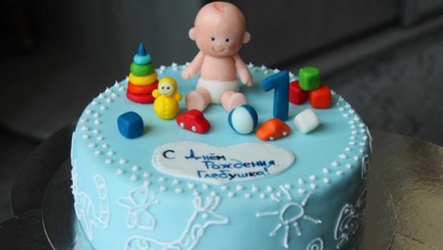 Торт ребенку на один годик своими руками
