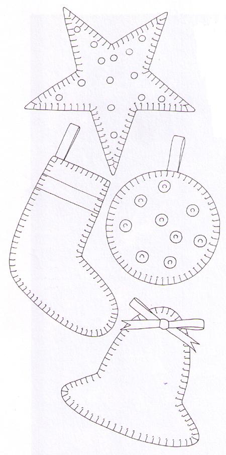 Выкройки игрушек из фетра своими руками новогодние 980
