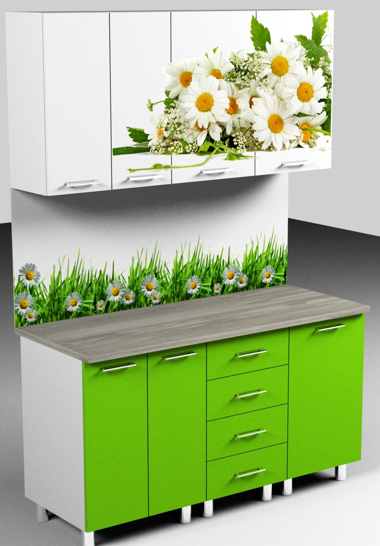Готовые пластиковые кухни с фотопечатью