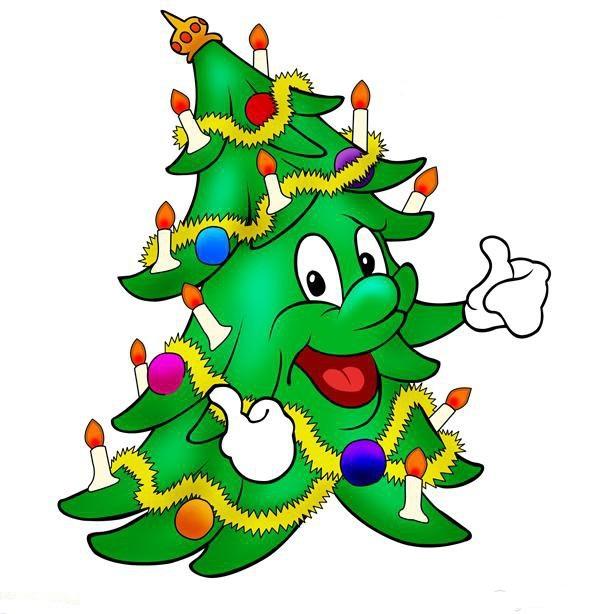 Новогодние елки прикольные картинки