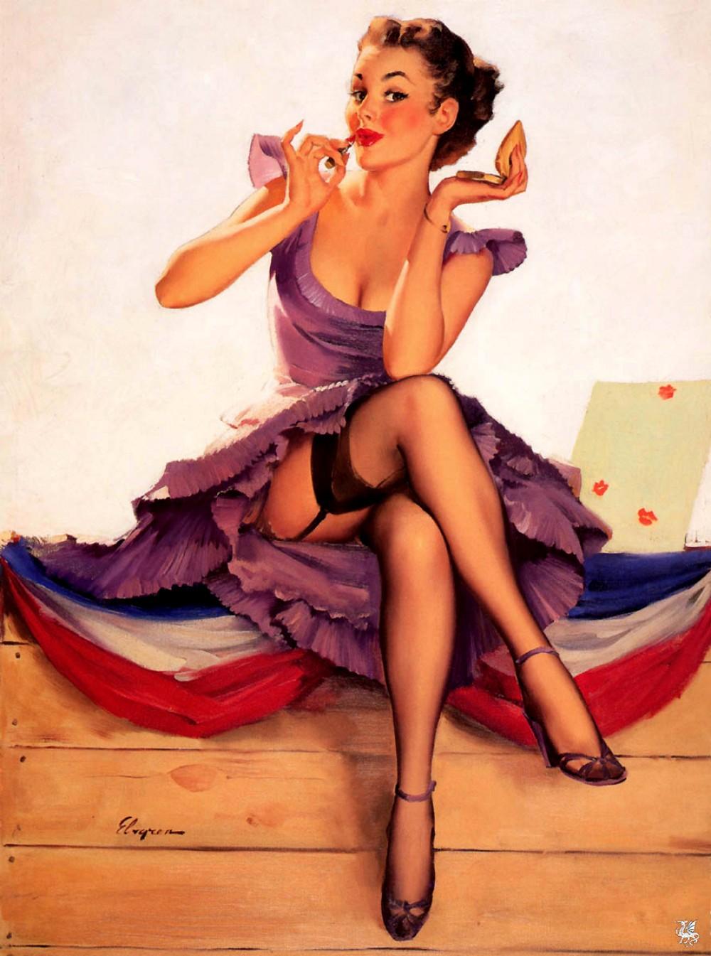 Рисунки женщин в колготках #6