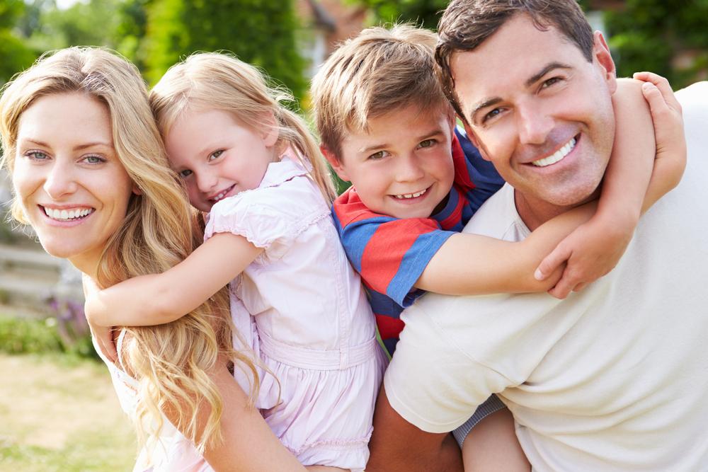 Для девочек, картинка счастливой семьи для детей