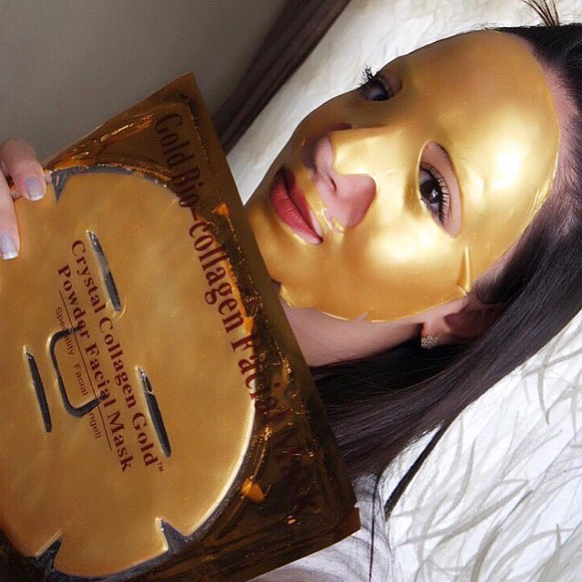 Маска колагеновая для лица Crystal Collagen Gold Mask с золотом