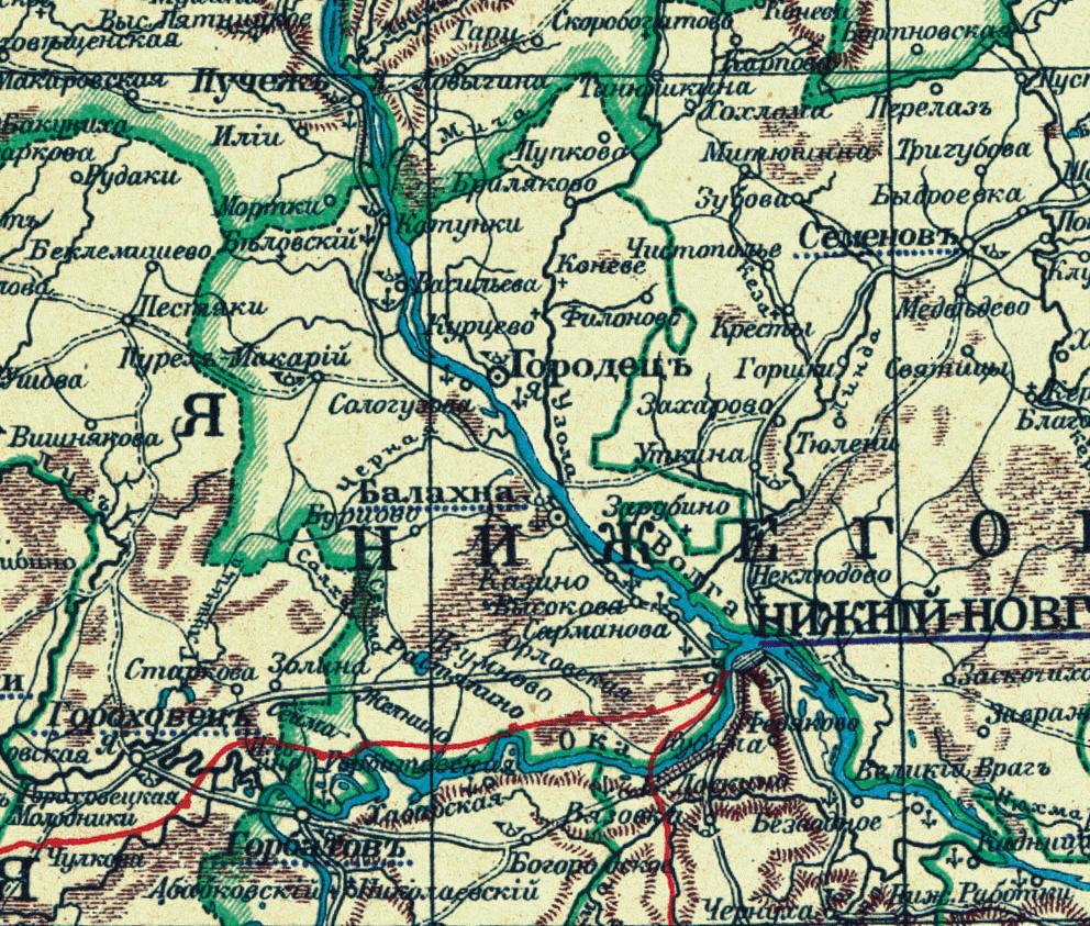 Старая карта нижегородской обл фото