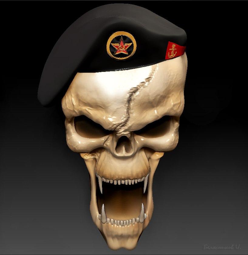 картинки череп в берете морская пехота беда начало есть
