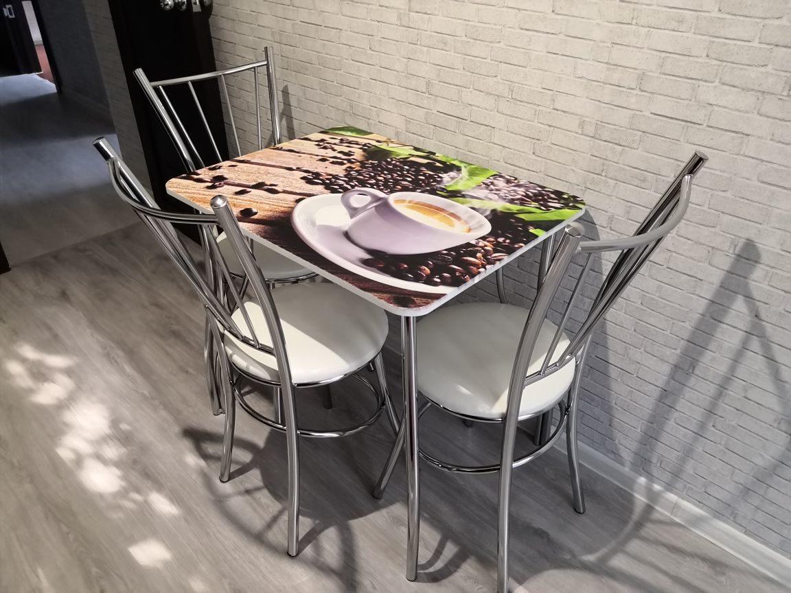столы и стулья с фотопечатью часть алоэ образует