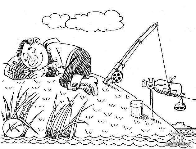 Рисунки карандашом про рыбалку прикольные, сентября