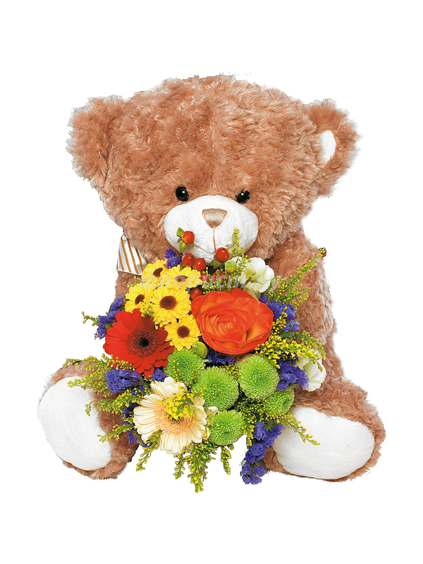 Картинки медвежат с цветами