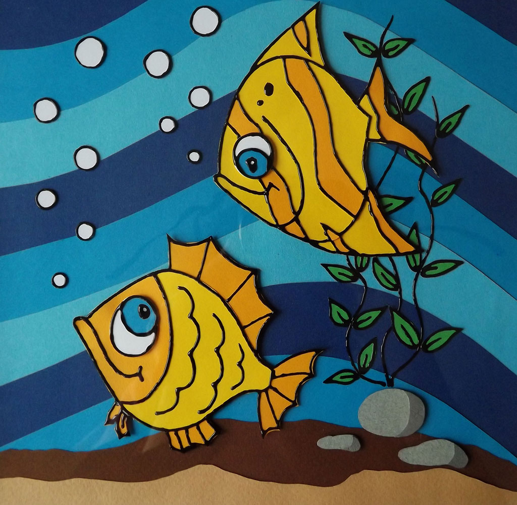 Открытка рыбки