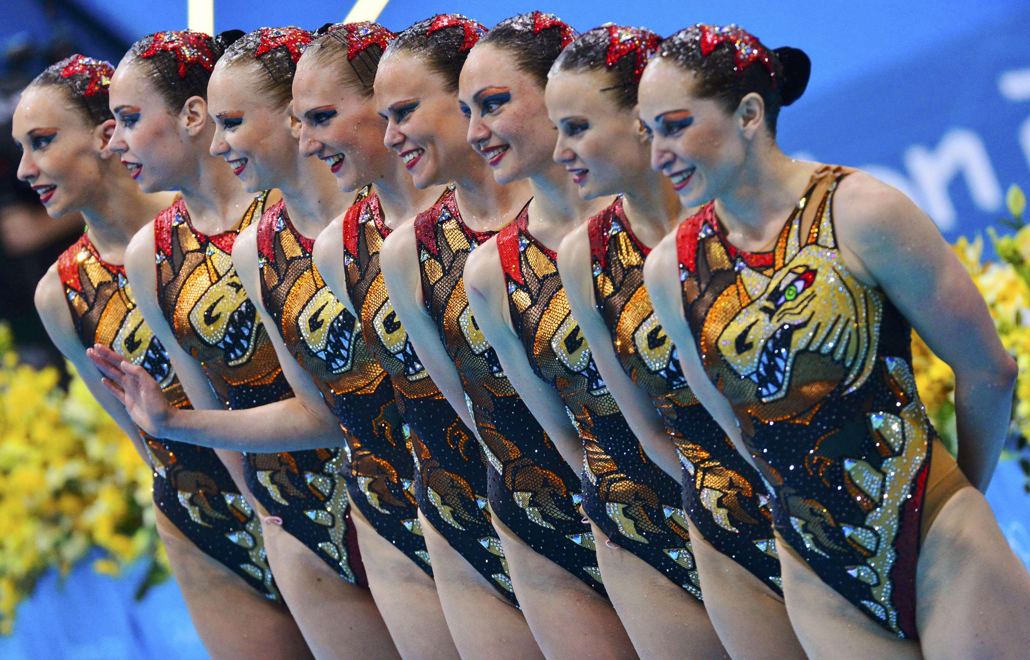 Фото чемпионок по синхронному плаванию