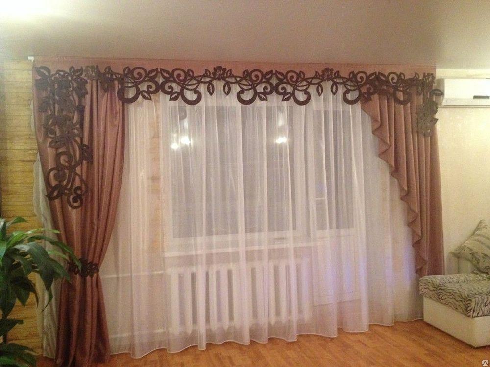 что картинки шторы для зала без ламбрекена побольше