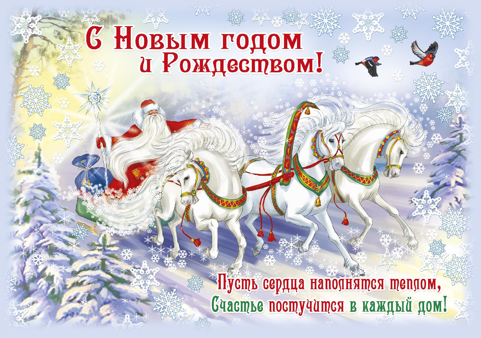 Красивые стихи поздравления с новым годом и рождеством