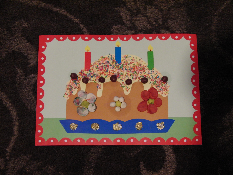 Открытка для бабушки на день рождения от внука 7 лет