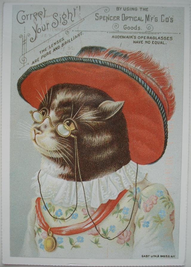Кошка старые открытки