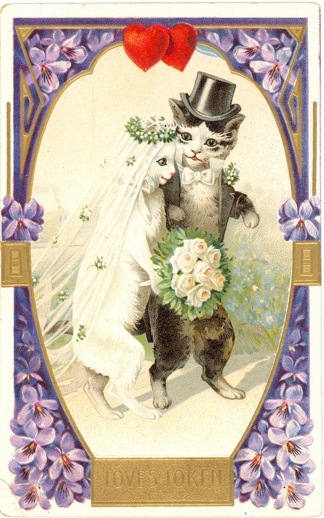 Старые открытки с свадьбой