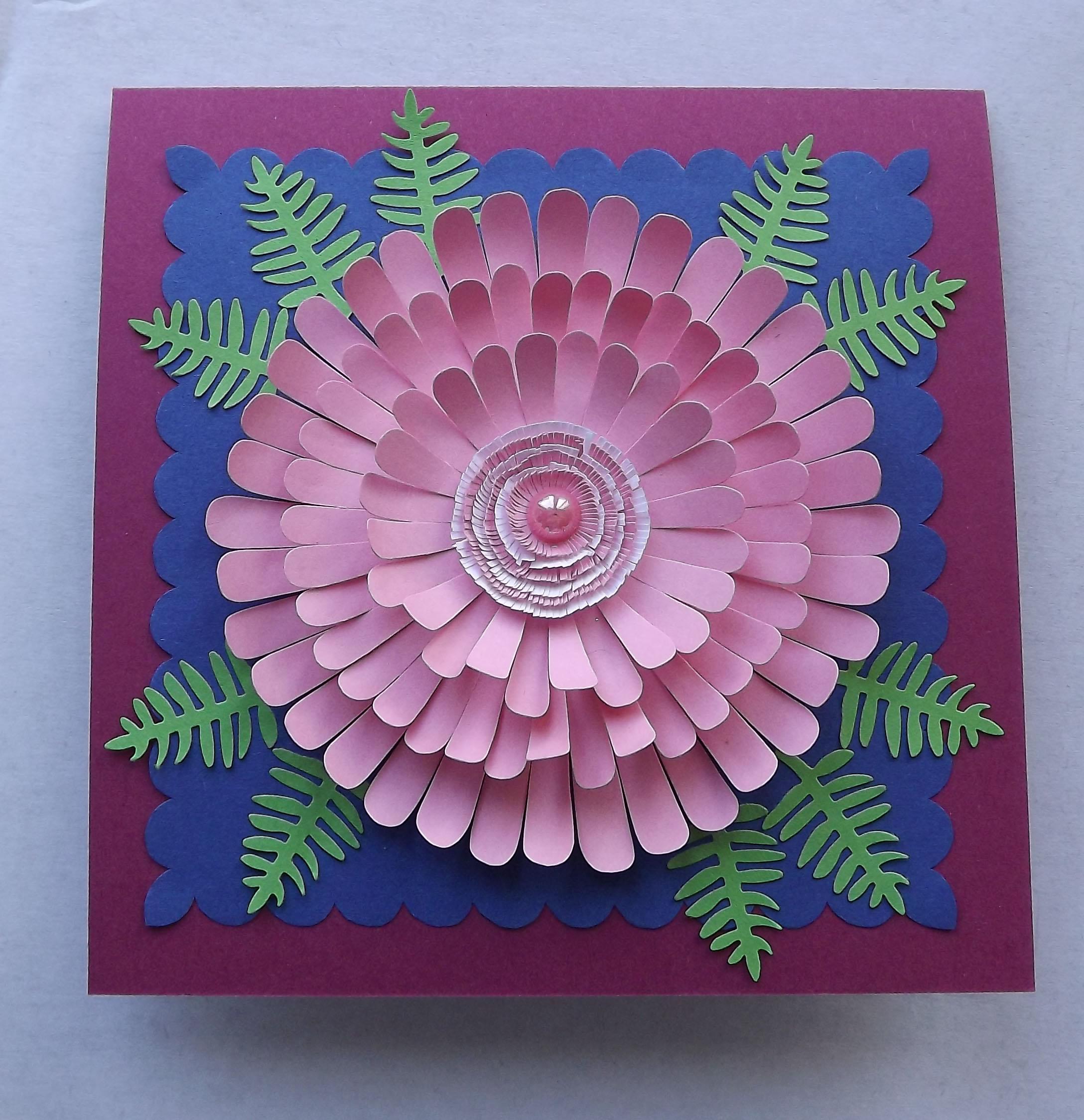 Как сделать открытку из картона цветок, веселые