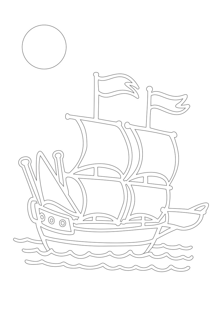Картинки сериалам, шаблон для открытки кораблик