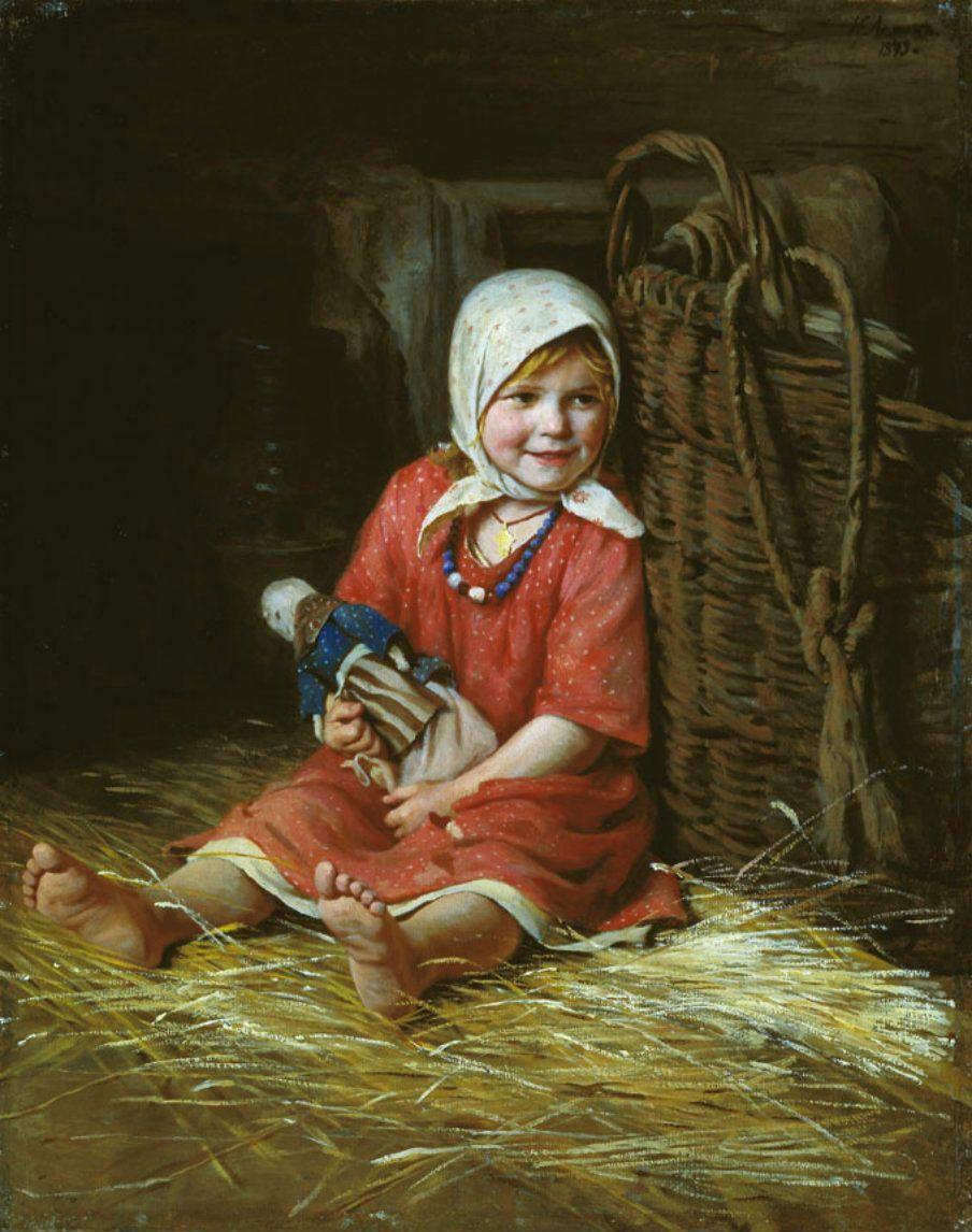 Картинки крестьянская девочка