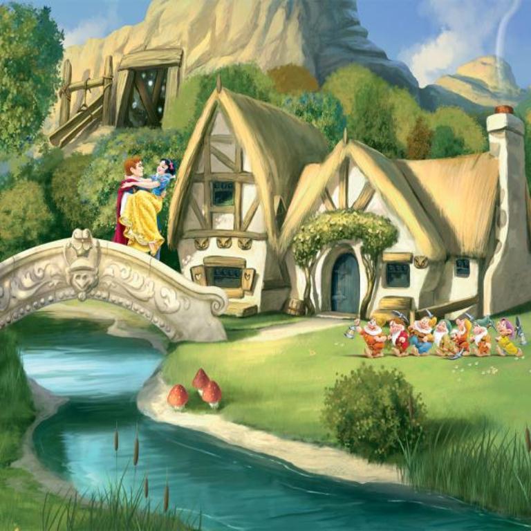 Картинки сказочные домики дисней