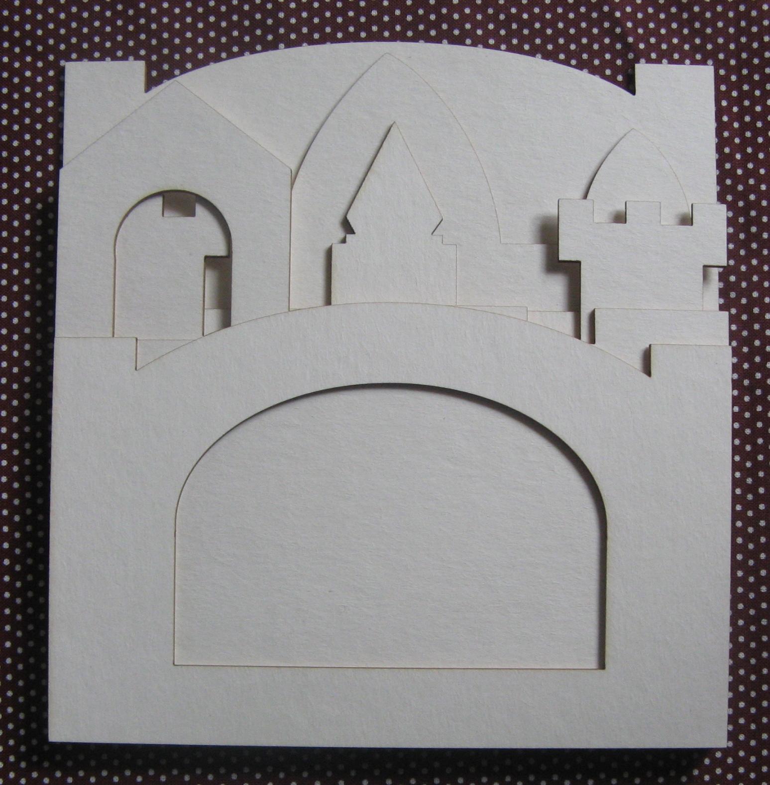 Шаблон открытки замка, картинка для рабочего