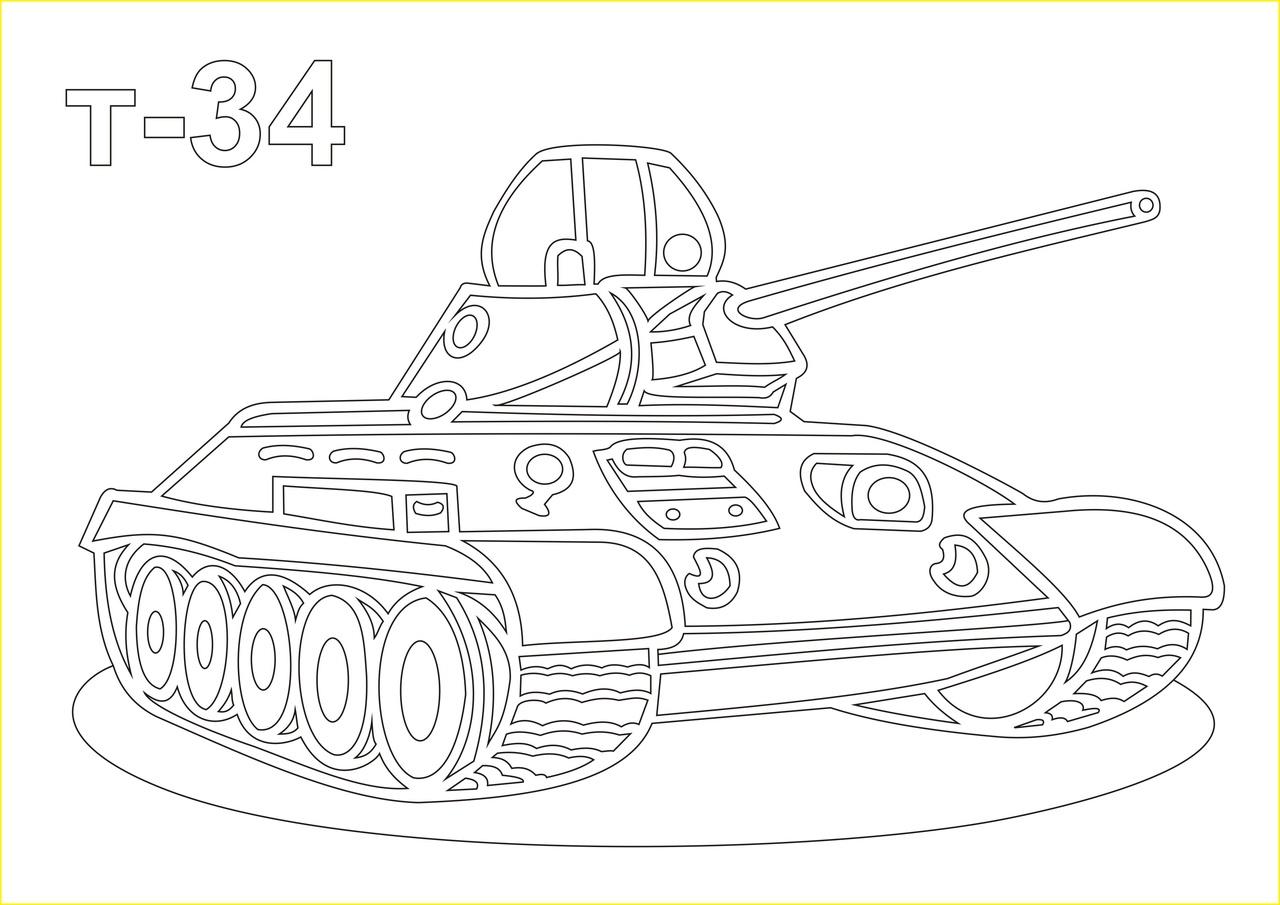 Трафарет картинки танка
