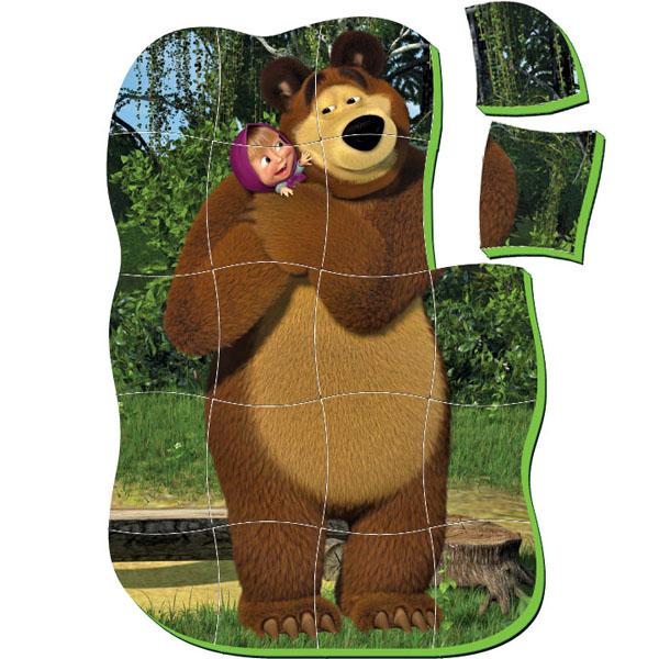 разрезная картинка маша и медведь увидите