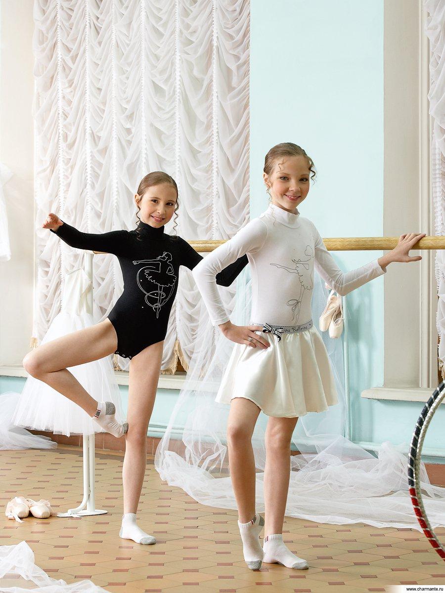 балерина в белом трусы - 1