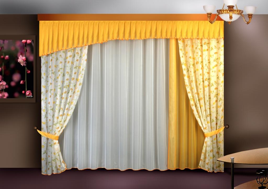 Тюль с ламбрекеном фото для зала