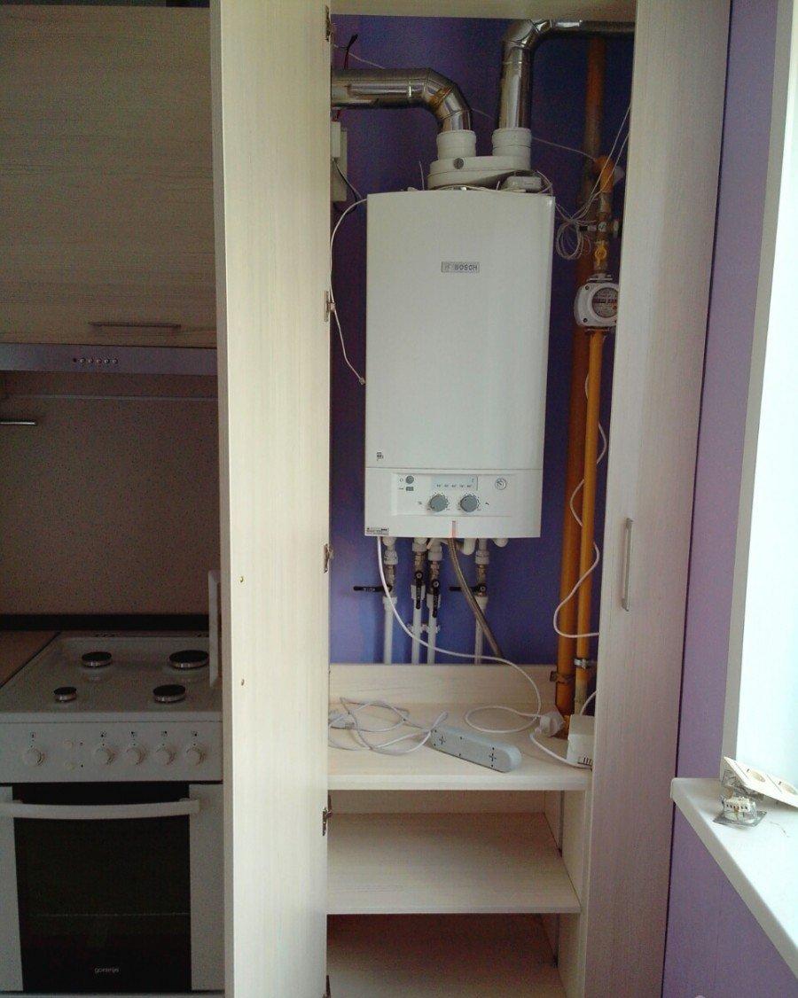 Как закрыть газовый котел на кухне фото