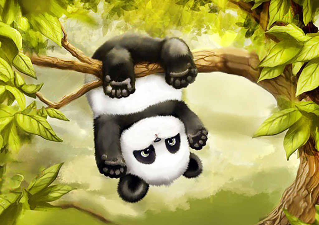 Смешные рисунки панда