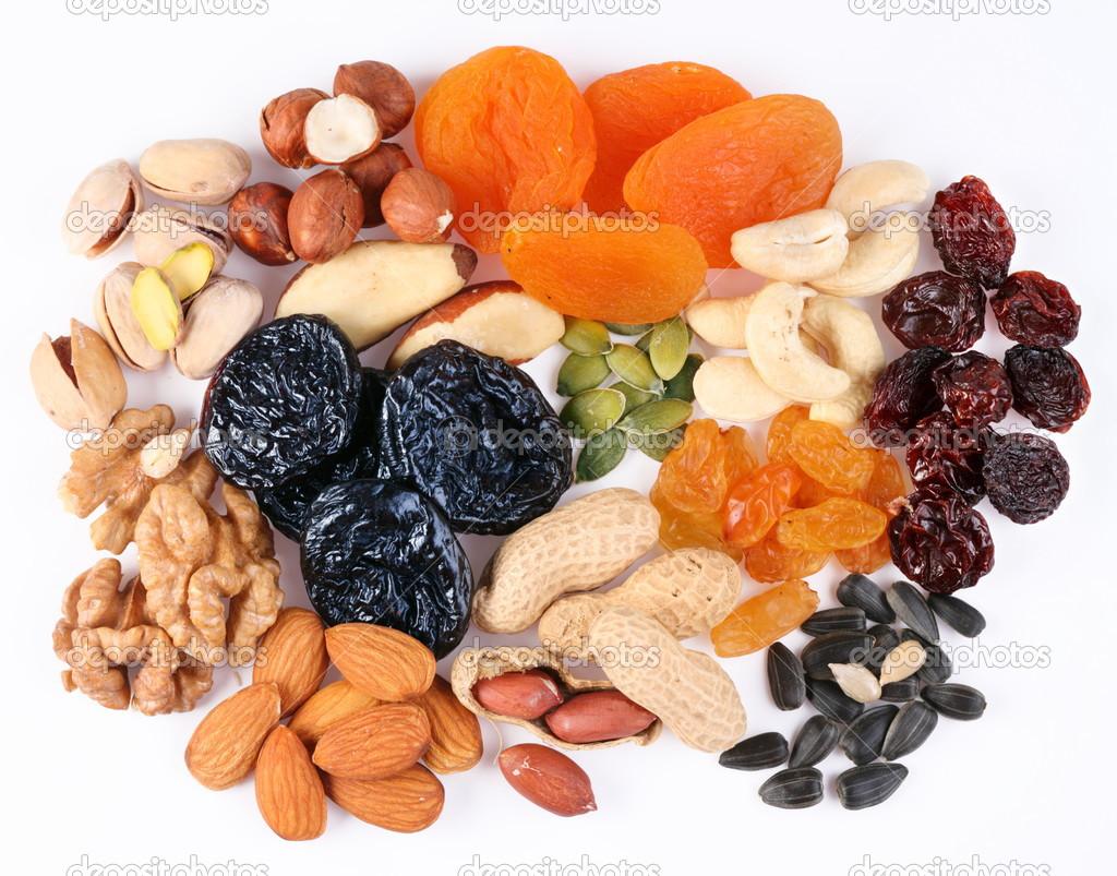 Орехи, сухофрукты и специи