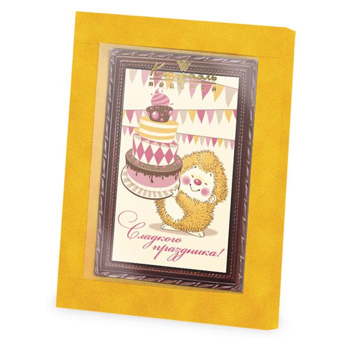 Шоколадная открытка на торт