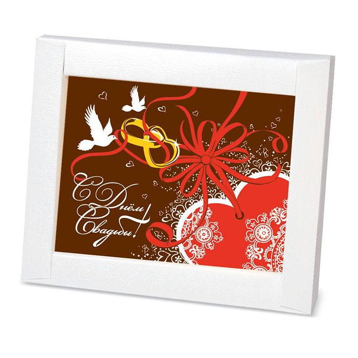 Шоколадная открытка на свадьбу