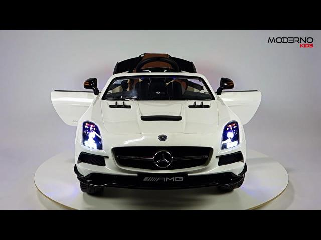 Mercedes Benz SLS AMG Ride On Toy Car with Remote Control (White)