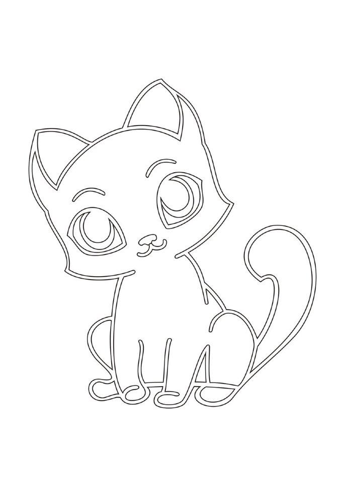 Как нарисовать котика на открытку