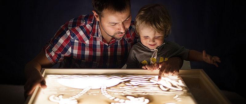 Детский светящийся планшет воображай песком в Усть-Каменогорске
