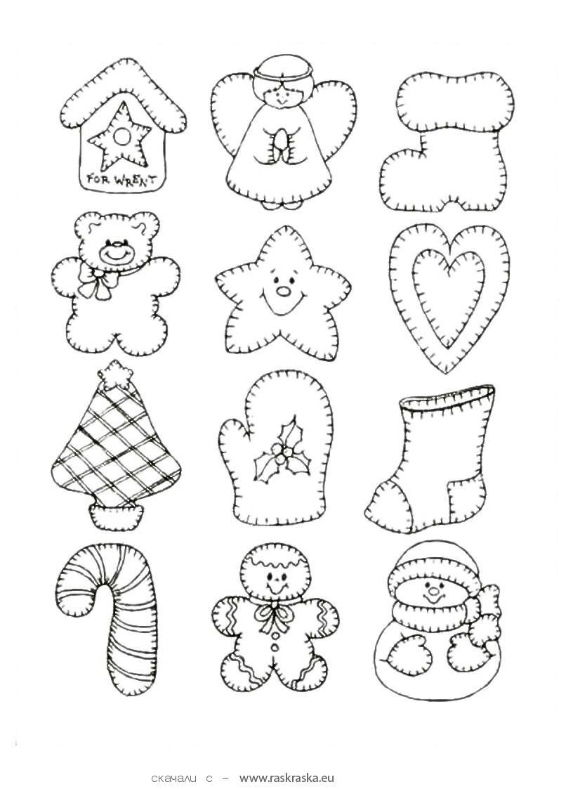 рисунки из новогодних игрушек почему-то кого такого