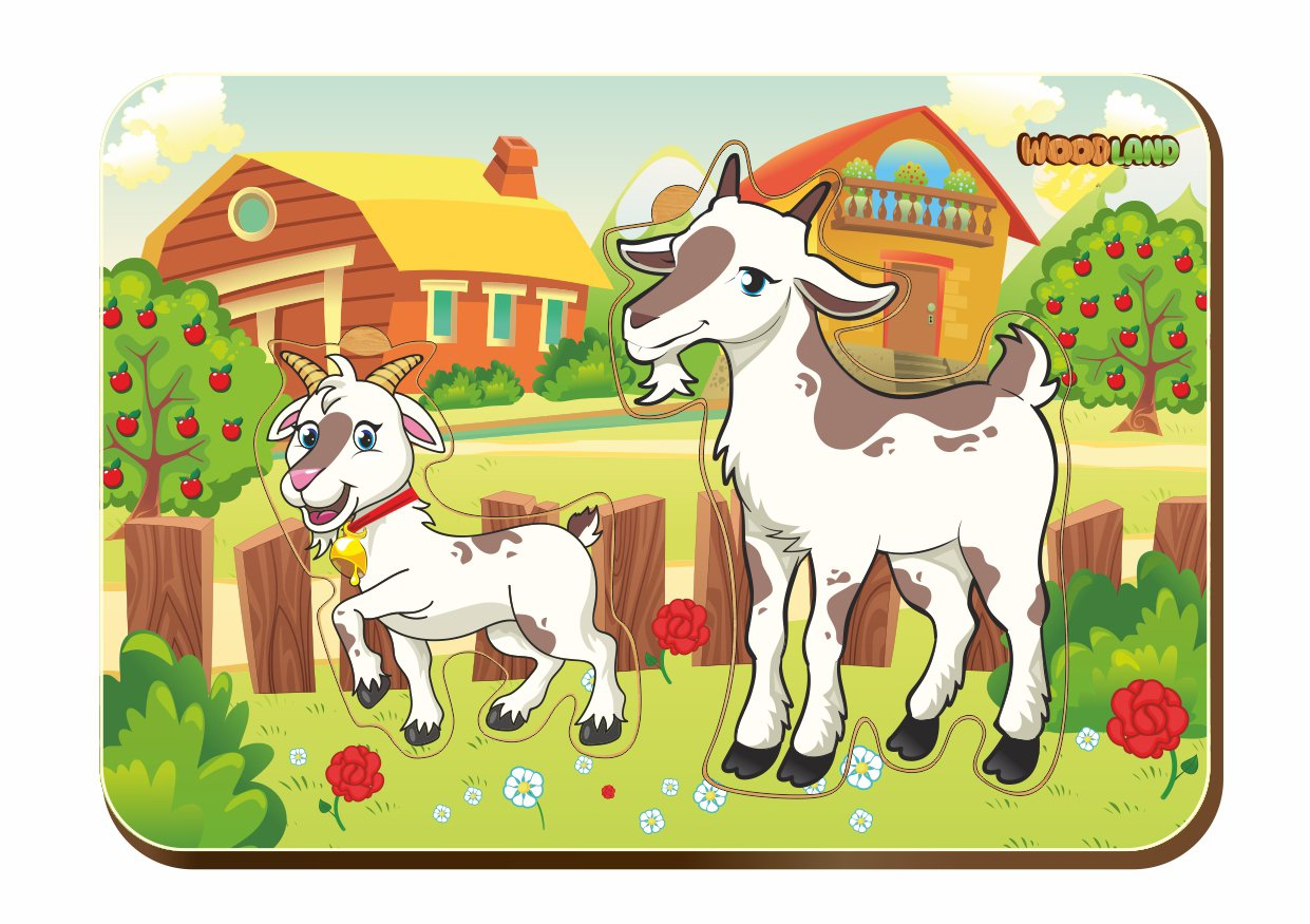 дедушка картинка для малышей коза с козлятами кладбища