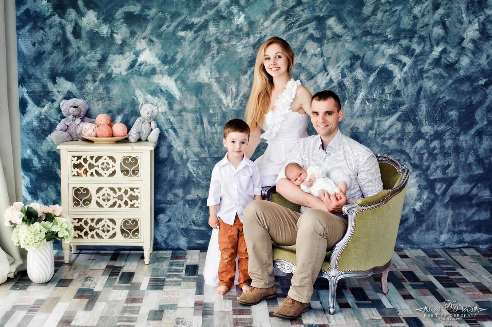 Студийные фото семьи краснодар